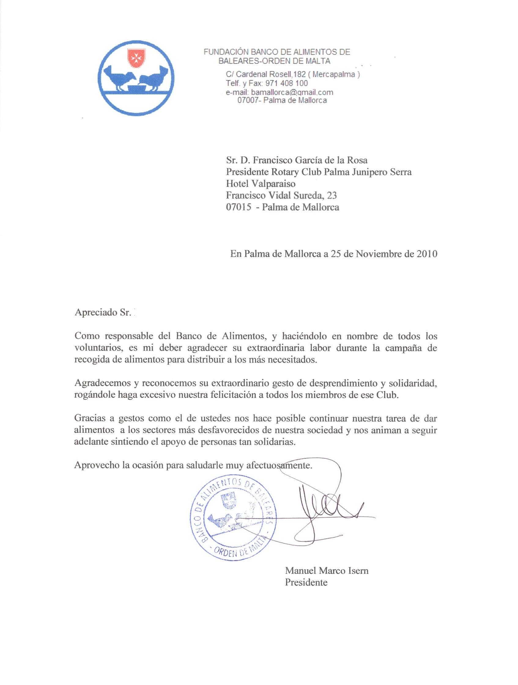 Poema 3 carta de agradecimiento asociaci 211 n de pacientes coronarios nazarena carta de - Banco de alimentos wikipedia ...