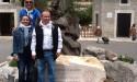 El RC Palma Junípero Serra, ante nuestro símbolo, en Lluc.