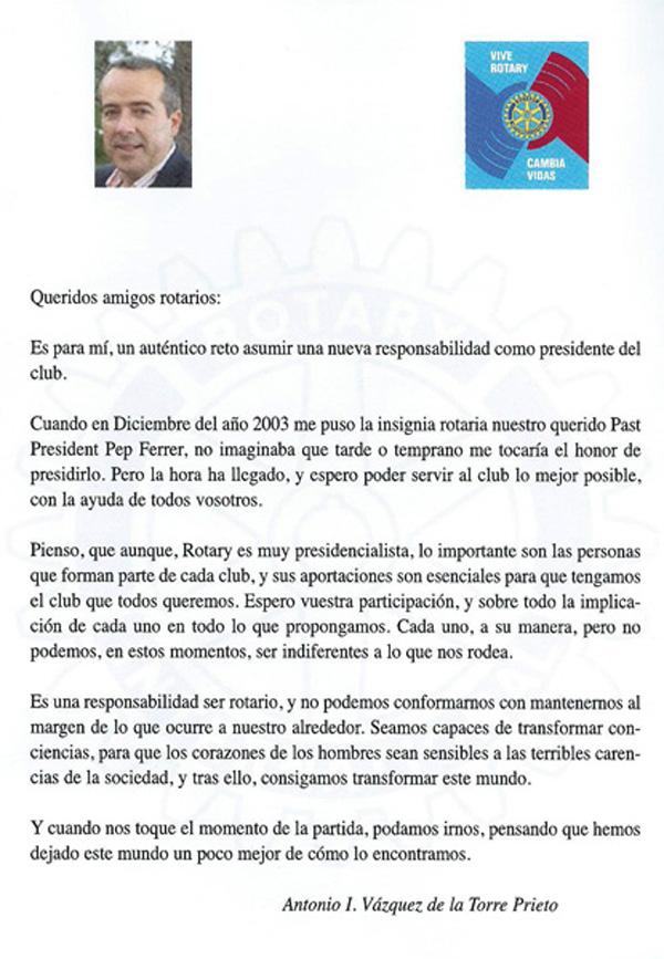 Cambio Presidente 2013-2014 Antonio Texto 600