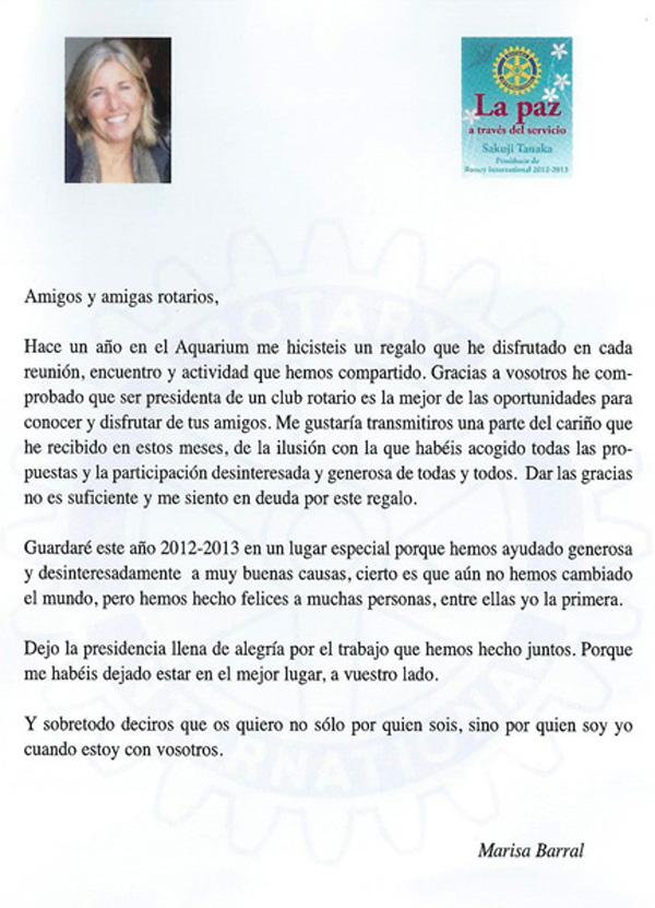 Cambio Presidente 2013-2014 Marisa Texto 600