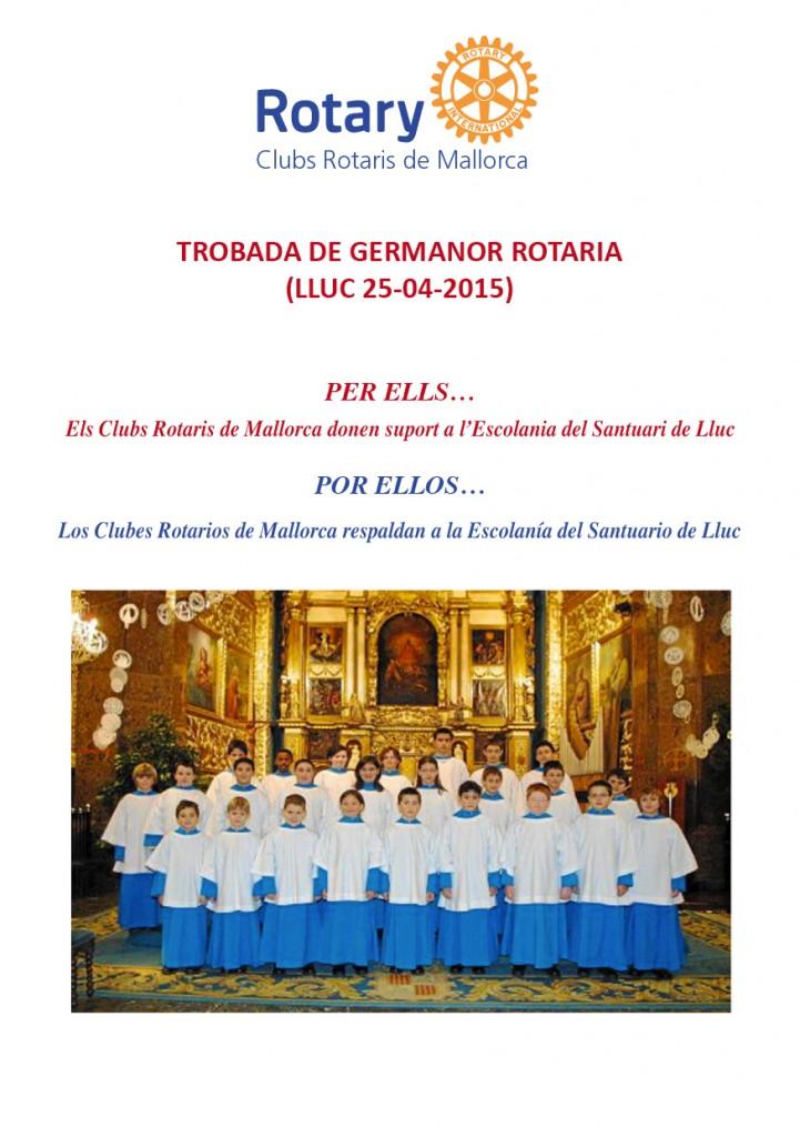 TROBADA A LLUC ROTARIS 2015